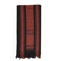 Fox Outdoor Tactical Shemagh  Red & Black 79-127 Keffiyeh - $9.89