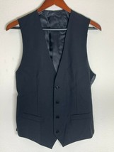 Dolce & Gabbana D&G DG Wool Button Up Vest, Solid Black, 46 EU, 36 US - $59.38