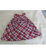 Youngland Holiday Dress 18 Months Black And Red Tartan Plaid Bow - $5.99