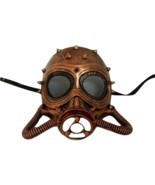 Chemical Gas Steampunk Skull Brushed Copper Halloween Mask - £31.28 GBP