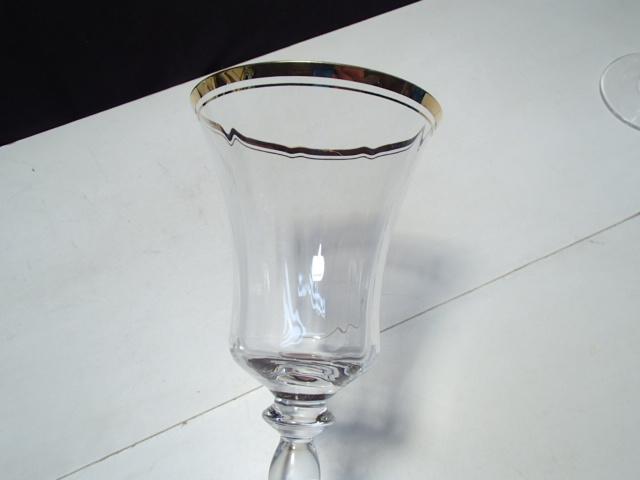 "2 Mikasa Jamestown Gold Goblets ~~ 9 1/8"" ~~~  image 3"