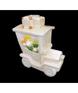 Vintage Cookie Jar, Whimsical Cookie Jar, Truck with Mouse Family on Vac... - $34.25