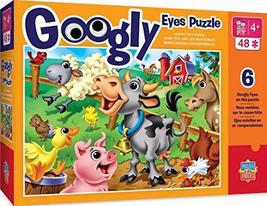 MasterPieces The Right Fit Kids Googly Eyes Jigsaw Puzzle, Farm Animals, Tillywi - $9.99