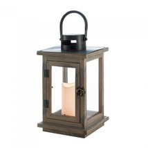 """Lot 6 Rustic Wood Lantern with Led Candle Centerpieces 14"""" with Handle - $165.33"""