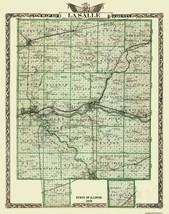 La Salle Illinois Landowner - Warner 1876 - 23 x 29.06 - $36.95+