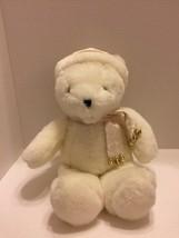 "Carlton Cards Animated Jingle Bells Musical White Sparkling Plush Teddy Bear 14"" - $12.19"