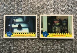 1990 Topps Teenage Mutant Ninja Turtles TMNT Movie Trading Cards Lot: #59 & #62 - $3.13