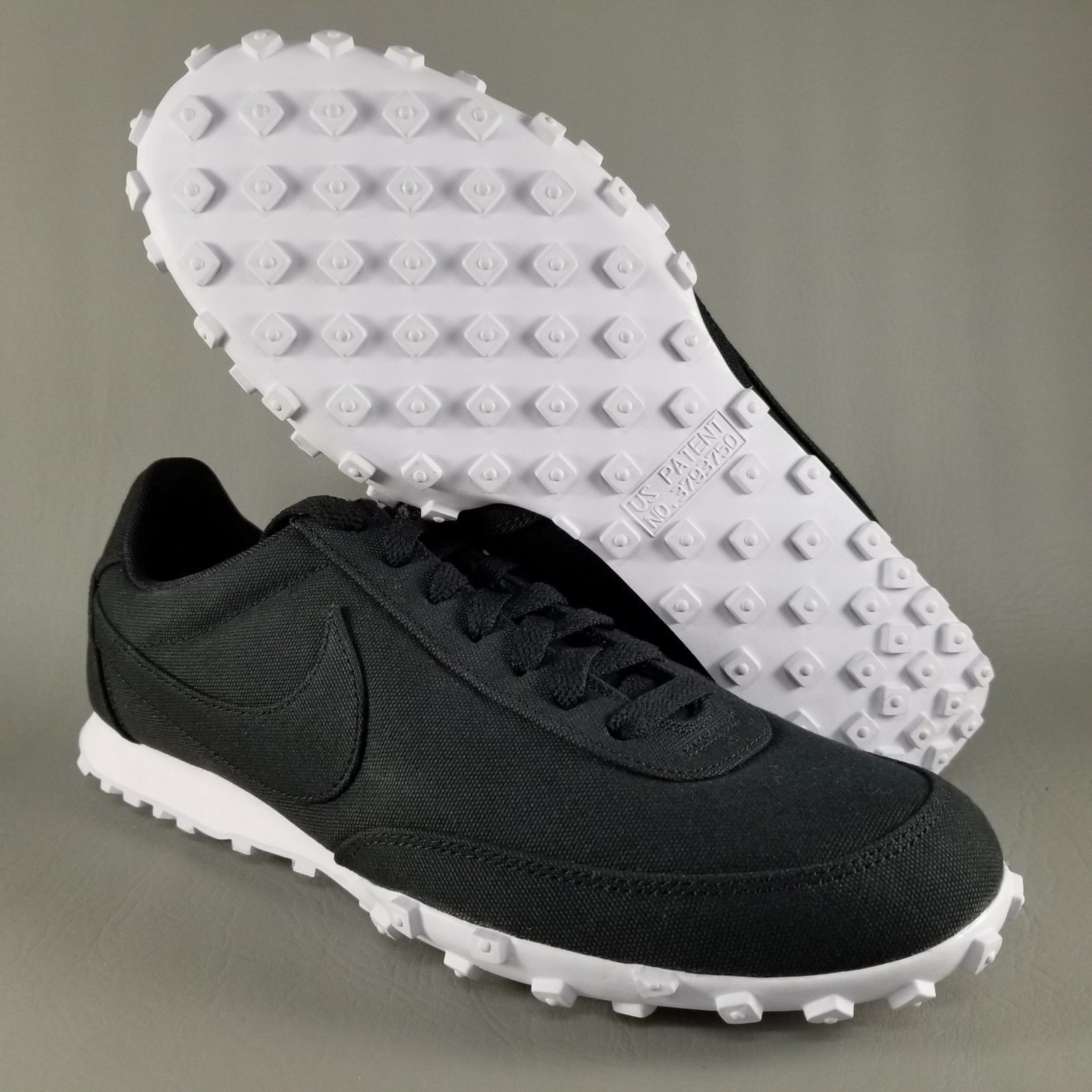 0274420babc ... Nike Waffle Racer 17 Textile Men s Size 10 Athletic Running Sneakers  Shoes Black ...