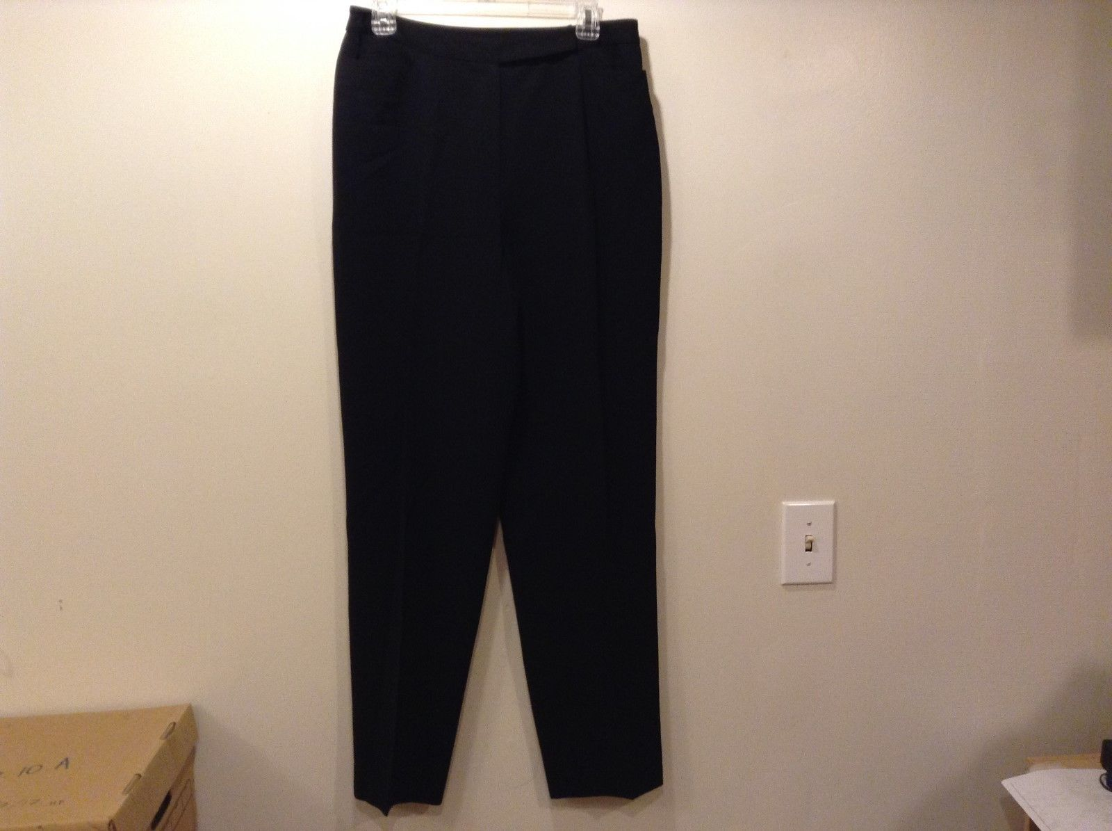 Jones New York Ladies Black Dress Pants Sz 12