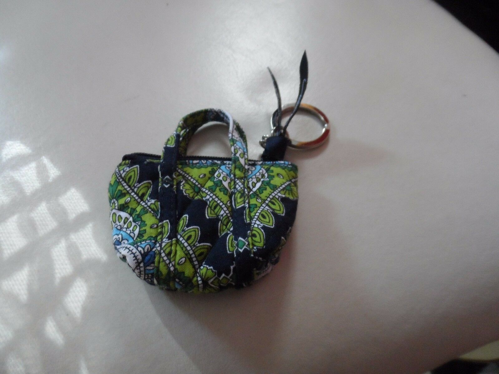 Vera Bradley Cambridge mini Miller keychain