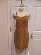 New in pkg newport news  camel 100% suede fully lined  dress size 6 - $96.52