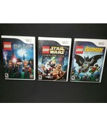 LEGO Harry Potter: Years 1-4, LEGO Batman LEGO Star Wars.  3 Games For Wii. - $20.00