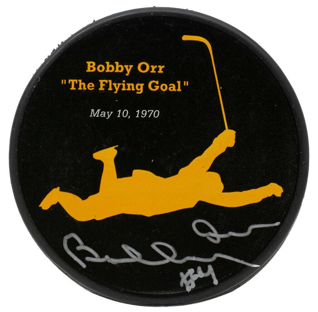 Bobby Orr Signed Boston Bruins Flying Puck GNR COA - $217.79
