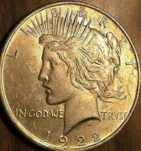 1922 UNITED STATES SILVER PEACE DOLLAR COIN - Uncirculated - $41.51