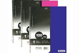 Bazic Products 538-24 BAZIC with R 100 Ct. 1-Subject Poly Cover Spiral N... - $79.54 CAD