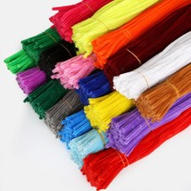 100pcs 5mm Chenille Stems Pipe Cleaners Children Kids Plush Educational ... - $4.99