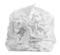 Rubbermaid Compatible 44 Gallon Trash Bag Clear 100 Bags - $27.10