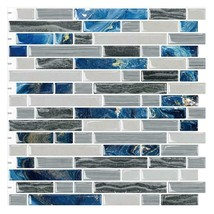 """(Ship from USA)10PCS 12""""x12"""" Sticky Tiles Waterproof Self Adhesive Peel and Stic image 1"""