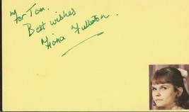 Fiona Fullerton Signed Vintage 3x5 Index Card JSA A View to a Kill James... - $49.49