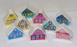 Vintage Christmas Cottages - Putz Plastic Mold Alpine Village - $12.99