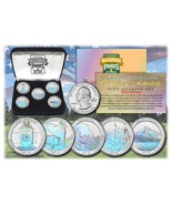 2010 USA Hologram National Parks  5 Quarters Coin set With Gift Box - £11.65 GBP