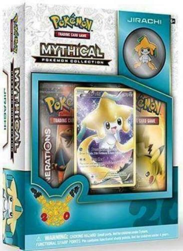 Jirachi Mythical Collection Pin Box Pokemon TCG Generations Packs 20 Anniversary