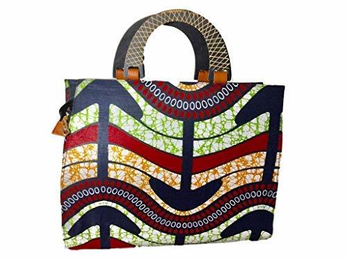Primary image for Large African Fabric Tote Bag (Multicolor)
