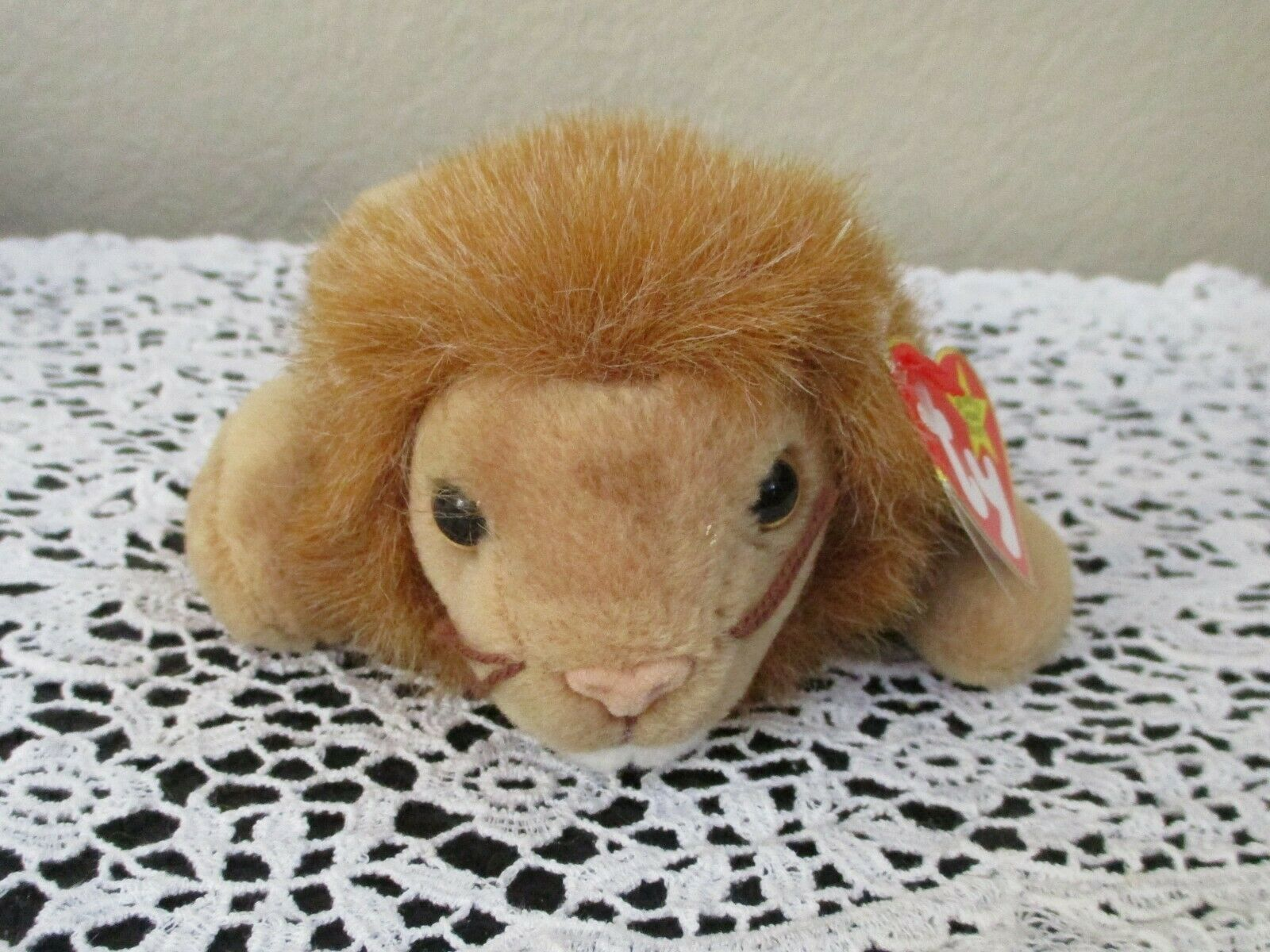 Primary image for Ty Beanie Baby Roary the Lion 4th Generation 3rd Generation Tush Tag No Star USE