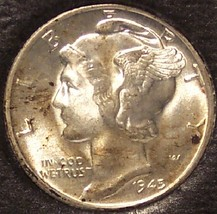 1945 Mercury Head Dime BU #1139 - $5.79
