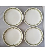 Corelle Corning Spring Blossom Lunch Salad Plates 4 Green Floral Home Ki... - $30.12