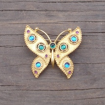 Trifari tm etruscian butterfly brooch pin thumb200