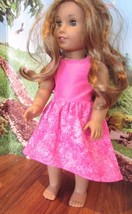 """homemade 18"""" american girl/madame alexander PINK BUTTERFLY sundress doll clothes - $19.80"""