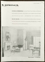 1937 B. Altman Fifth Ave NYC PRINT AD Progress House 7th Floor Drawing K... - $11.89