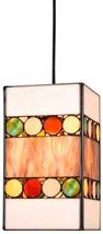"""Tiffany Mini Pendant Light Colorful Rectangle 6""""Wx11""""H - €163,60 EUR"""