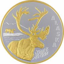 Alaska Mint Caribou Medallion Silver Gold Medallion Proof 1 Oz. - $98.99