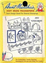 UNICORNS Aunt Martha's Hot Iron Transfers #3802 - $5.09