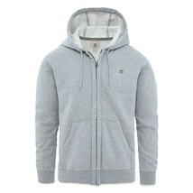 TIMBERLAND A1CTU-052 OYSTER RIVER MEN'S GREY FULL ZIP HOODIES - $59.99