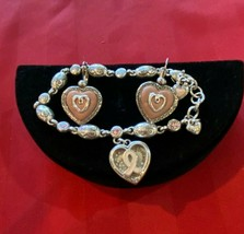 Brighton POWER OF PINK Bracelet & Puffy Heart Earrings - $37.30