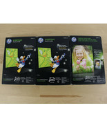 NEW LOT of 3 HP Everyday Photo Paper 100 Sheets GLOSSY 4 x 6 Q5440A - $21.77