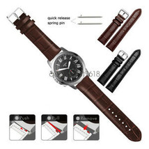 22mm 20mm Crocodile Leather Wrist Watch Band Strap For Fossil Watch - $12.98