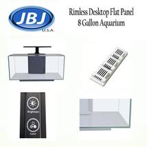 JBJ Rimless Desktop Flat Panel 8 Gallon Aquarium with 10w Lyra LED RL-8-FP - €131,89 EUR