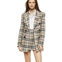 Women's Famous English Designer 2 Piece Solid Khaki Plaid  Blazer Set image 6