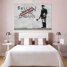 Wall Poster Art Giant Picture Print Banksy Follow Your Dreams 1077PB - $22.99