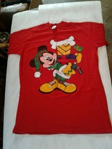 Vintage One Size Fits All Night Shirt Mickey Mouse Xmas Disney Store (CB50) - $34.65