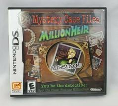 Mystery Case Files: MillionHeir (Nintendo DS, 2008) - Complete - $4.41