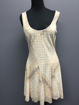 FREE PEOPLE Cream Stretch Textured Sleeveless Casual A Line Mini Dress M... - $30.76