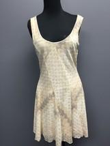 FREE PEOPLE Cream Stretch Textured Sleeveless Casual A Line Mini Dress M... - $30.76