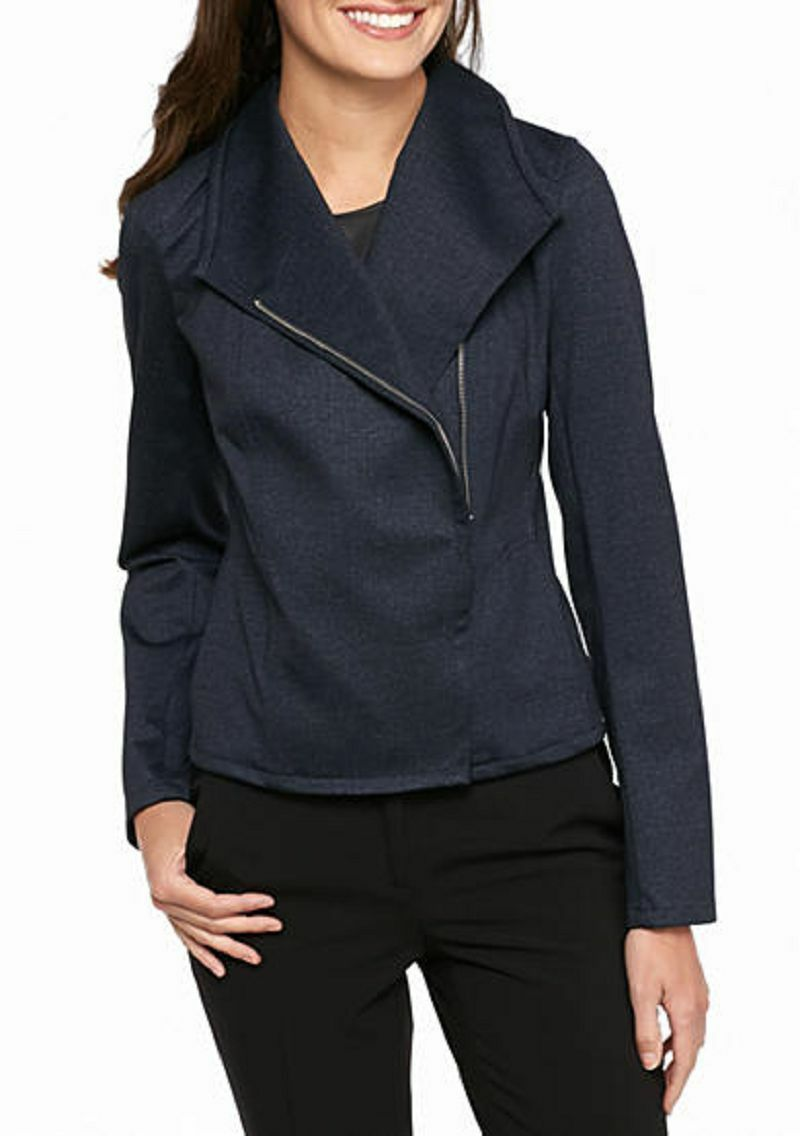 Primary image for NWT TOMMY HILFIGER INDIGO BLUE ZIP FRONT CAREER JACKET SIZE 16  $129