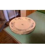 Vtg Blue Garland Bread Plate Set 4 Johann Haviland Bavaria Germany Plati... - $19.99