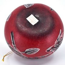 Handcrafted Carved Gourd North American Birds Cardinal Quail Ornament Made Peru image 5